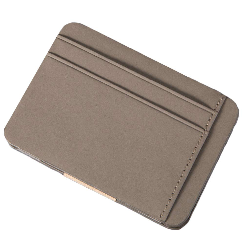 FarJing Mens Bifold Business Leather Zipper Wallet ID Credit Card Hand Holding Ultra-thin Coin Purse