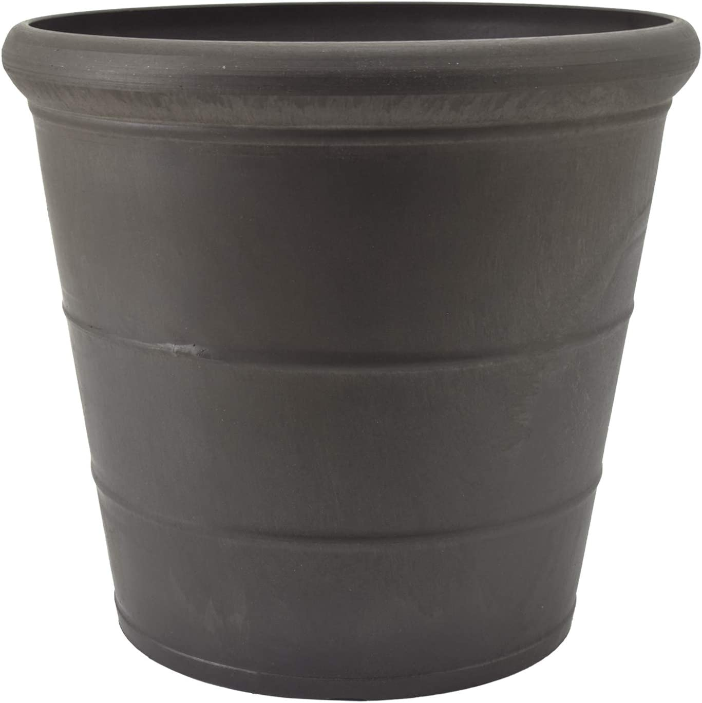 Arcadia Garden Products PSW NUR28DC Drop Planter, 11.5 by 10.5-Inch, Dark Charcoal