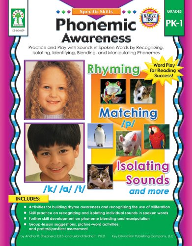 Phonemic Awareness, Grades PK - 1: Activity Pages and Easy-to-Play Learning Games for Introducing and Practicing Short-and Long-Vowel Phonograms (Specific Skills)