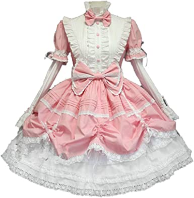 Lolita Cute Anime Women Maid Dress Halloween Princess Party Cosplay Costume