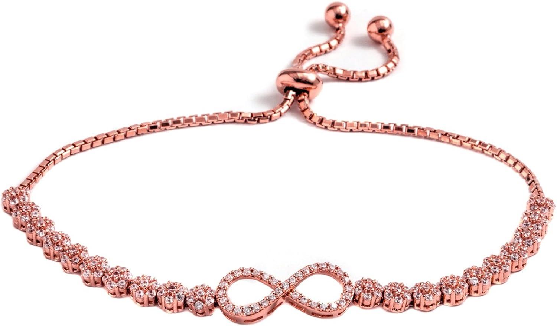 bezel set bracelet cubic zirconia bracelet adjustable bracelet slider bracelet Bolo bracelet
