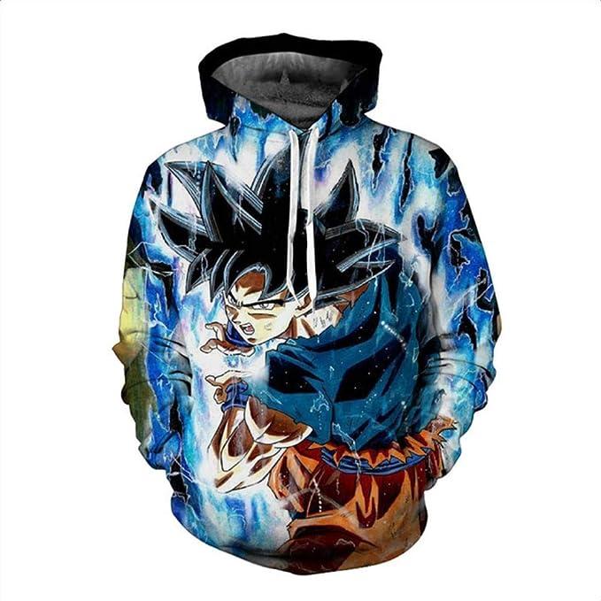 Amazon.com: HOOSHIRT Men 3D Hoodie Sweatshirt Dragon Ball Hoodies Hooded Coat Naruto Super Saiyan Blue egeta Printed Cartoon Sudaderas Hombre,2,XL: Sports & ...