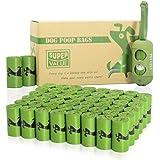 PET N PET Poop Bags 720 Green Earth-Friendly Dog Poop Bags Refill Rolls With 1 Free Biobased Poop Bag Dispenser Large Dog Was