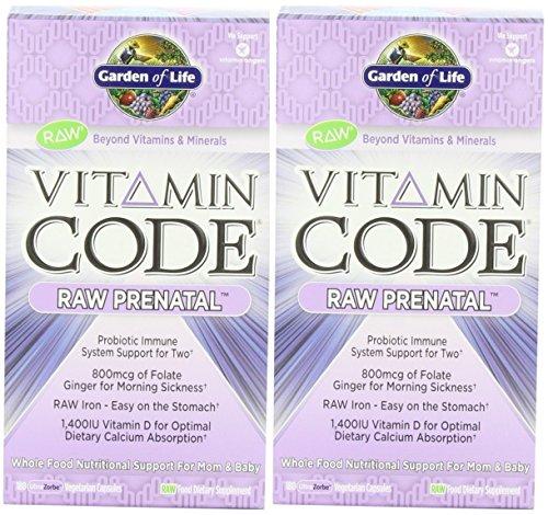Vitamin Code Raw Prenatal 180 Cap Pack of 2