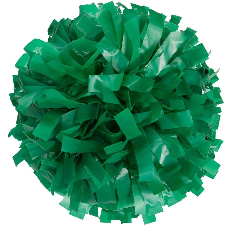 Cheer Fantastic 6 inch 2 Color Plastic Poms in a Pair Kelly Green