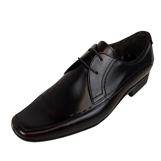 Base London Truman Men/'s Smart Slip On Leather Chelsea Boots Black