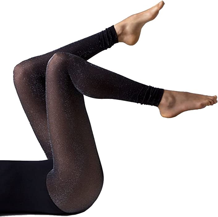 d2f7efda05089 Gipsy Footless Glitter Tights-Black/Silver-One Size at Amazon ...