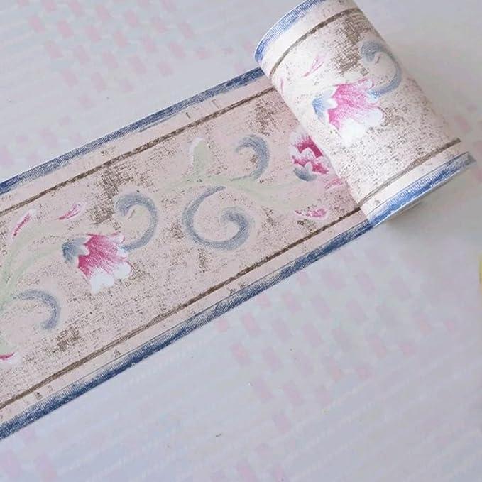 lovefaye Retro Flores Cenefa autoadhesiva decorativo de pared fronteras Cocina Ba/ño Dormitorio Decoraci/ón de Azulejos adhesivo