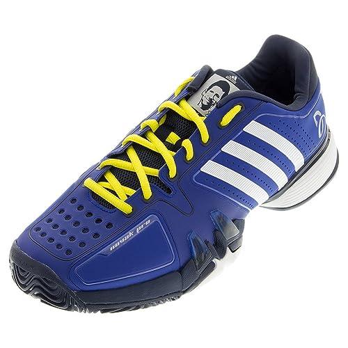adidas Performance Men's Novak Pro Tennis Shoe, Collegiate  Royal/White/Bright Yellow,