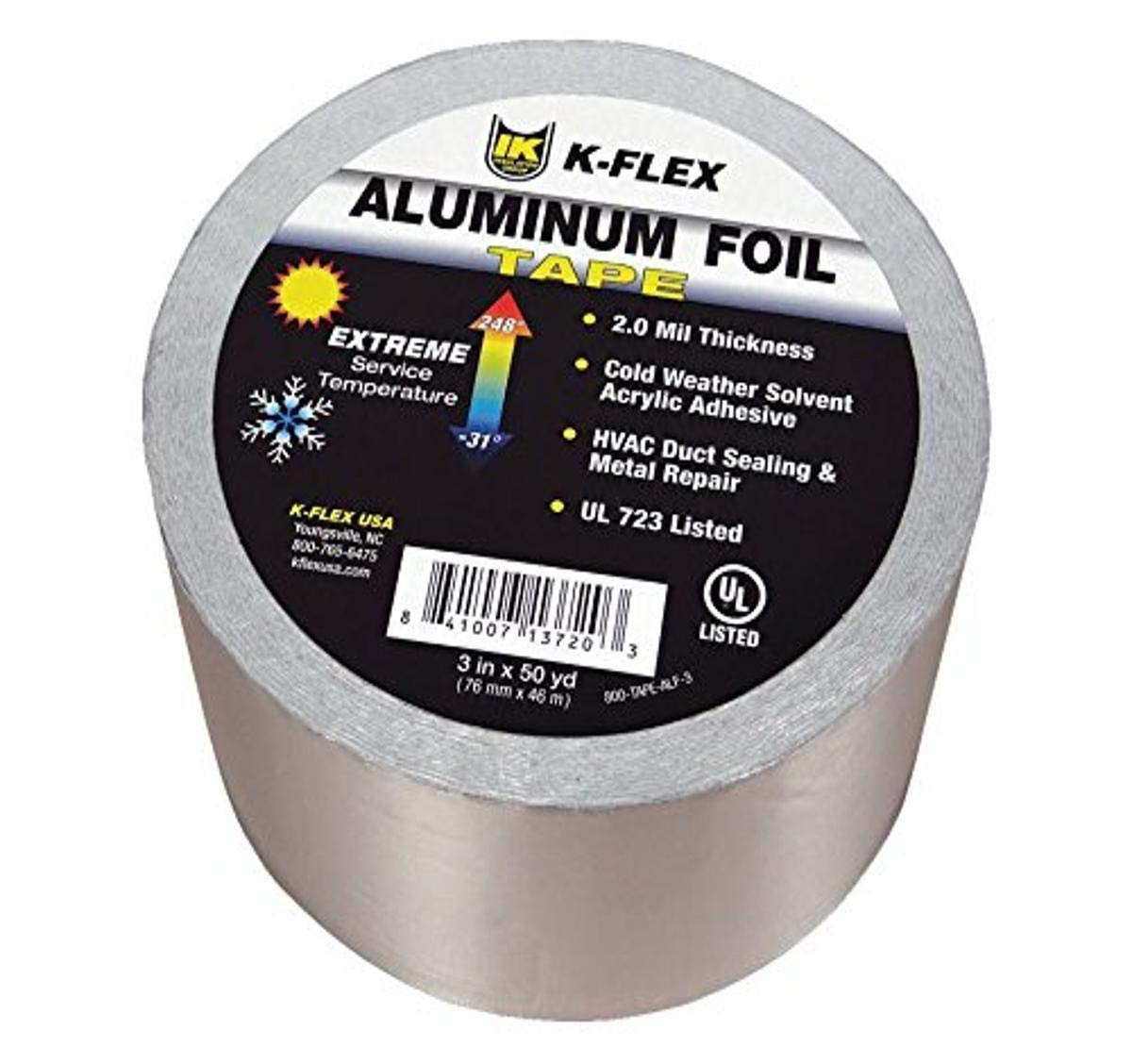 "Malleable Foil 4 Rolls Aluminum Foil Tape 4/"" x 150/' With Liner Free Shipping"