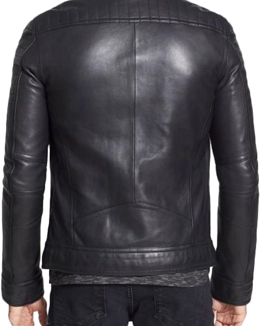 Men Leather Jacket New Soft Lambskin Slim Biker Bomber Coat LTN1278