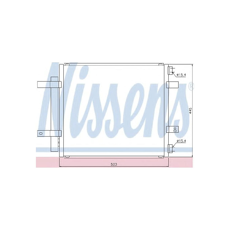 Nissens 94866 Condenser, air conditioning