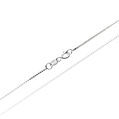 38d789381763 SWEETV Joyería - Collar - Fina Plata De Ley 925 - Cadena de Eslabón  Cuadrado -