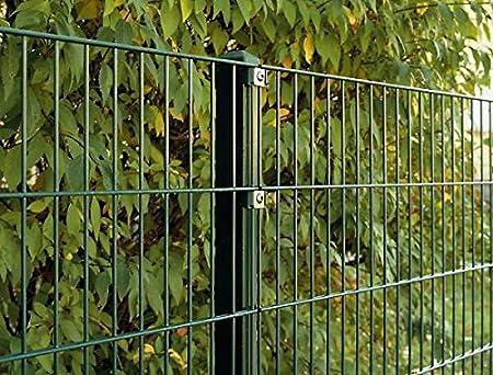 Grün 163cm hoch 10m lang Doppelstab Mattenzaun Set Gartenzaun Metallzaun
