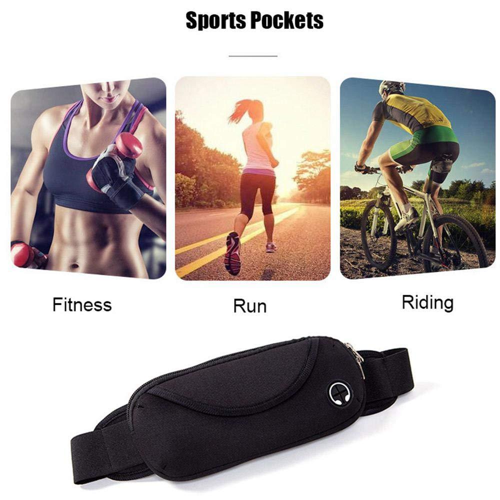 Ligera Ri/ñonera de Running para Gimnasio Hombre Entrenamiento Correr AOLVO Senderismo para Mujer para Fitness Ajustable Ejercicio y Ejercicio Ciclismo