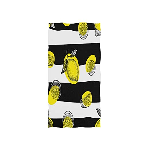 Patrón con Limones Toalla de Mano Toallas Ultra Suaves para baño ...