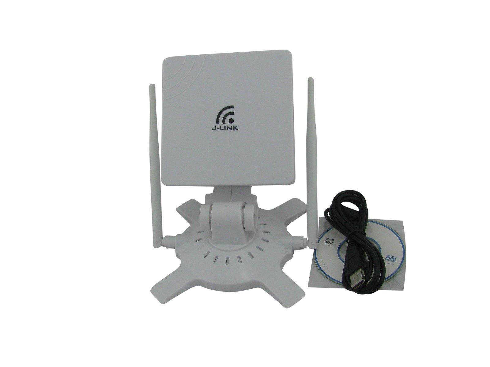 Super Power Supply High Power Long Range High Sensitivity Clipper USB WiFi Network Adapter B/G/N with 1 x 16dBi 2.4GHz Panel High Gain Directional Antenna + 2 x 6dBi Omni Antennas 24dBi 48dBi 150Mbps