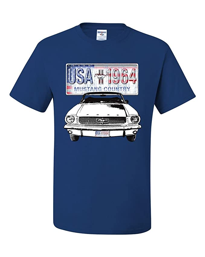 Amazon Com Mustang Country  T Shirt Ford Legend Usa American Classic Tee Shirt Clothing