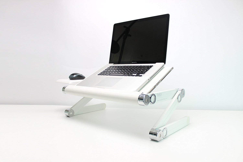 BACKPAINHELP Tavolino Portatile Supporto per Pc Notebook Laptop Regolabile con Aperture per Raffreddamento per Letto e Divano Supporto Ergonomico per Scrivania Pieghevole e Portatile