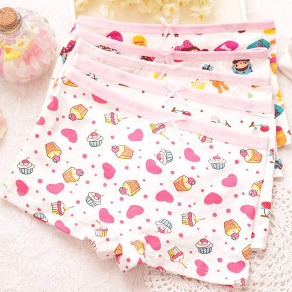 2019 4 Pcs Baby Girls Cartoon Underwear Rabbit Bunny Panties Cotton Boyshort Hipster Kids Briefs