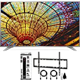 LG UH6550 4K UHD Smart TV w/ webOS 3.0 Flat Wall Mount Bundle with Flat Wall Mount Ultimate Kit and Power Strip with Dual USB Ports (65-inch)