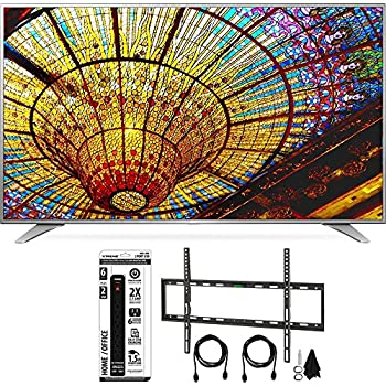LG 65UH6550 65-Inch 4K UHD Smart TV w/ webOS 3.0 Flat Wall Mount Bundle includes Television, Flat Wall Mount Ultimate Kit and Power Strip with Dual USB Ports