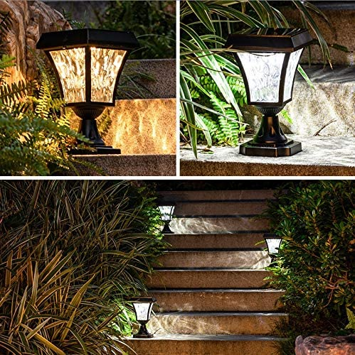 SMX Luminaria Decorativa Poste for Exterior, Impermeable IP55 ...