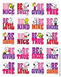 eureka valentines stickers - Eureka Peanuts Valentine's Stickers, Theme (655065)