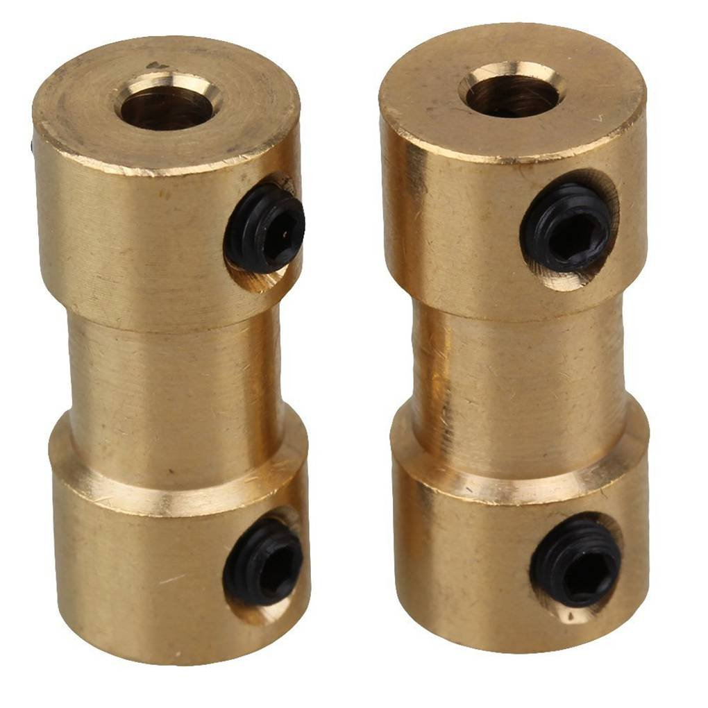 Goldenes Messing Steifen Wellen Adapter-Stecker Kupplung Kupplung Motor Getriebe Stecker mit Schrauben-Schlü ssel republe