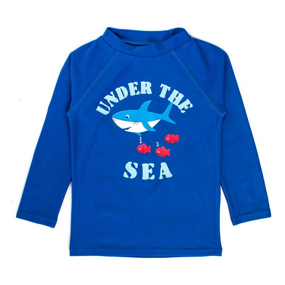ESTAMICO Boys Long Sleeve Rashguard Swimwear Rash Guard Athletic Tops Swim Shirt UPF 50 Sun Protection