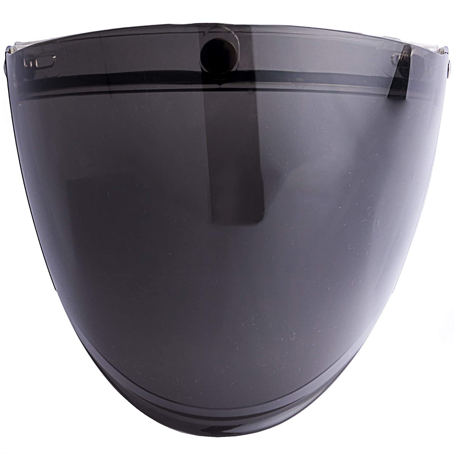 Light Smoke 3-Snap Flip Up Full Shield Visor for Motorcycle Half Open Face Helmets
