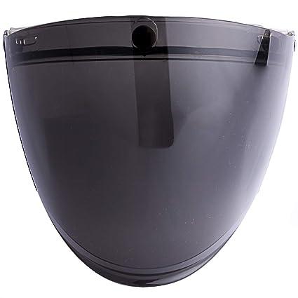 eccccd69 Amazon.com: 3-Snap Flip Up Visor Face Shield for Half Open Face Motorcycle  Helmets (Smoke): Automotive