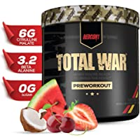 Redcon1 Total War - Pre Workout, 30 Servings, (Tigers Blood) Boost Energy, Increase Endurance and Focus, Beta-Alanine…