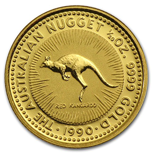 1990 AU Australia 1/20 oz Gold Nugget Gold About Uncirculated ()