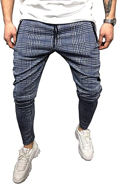 Odot Cuadros Casual Pantalones Largos Deportivos De Jogging para ...