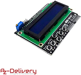 AZDelivery LCD 1602 Display Keypad Shield HD44780 Modulo con 2x16 ...