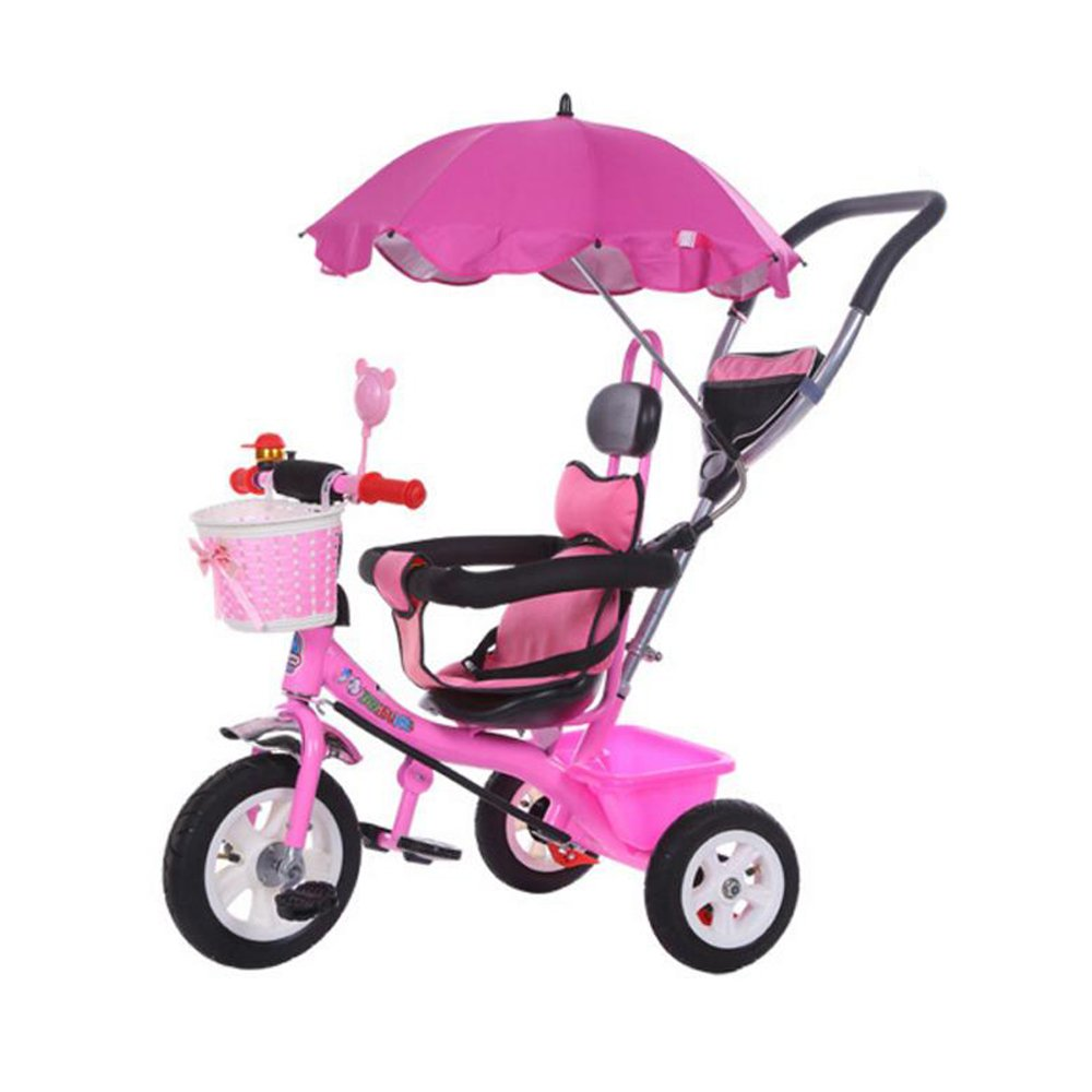KOOK Wheelchair Pushchair Baby Stroller Umbrella and Holder Parasol UV Rays Rain Sun Canopy,Stretchable Pram Stroller Chair Umbrella Bar Holder , Bicycle Umbrella Holder Clip Clamp (Pink)