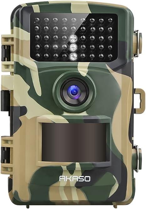 Loop-Aufnahme f/ür Sicherheit Wildtieren im Freien Wasserdichte Aufkl/ärungskamera mit 0,2s Bewegungsmelder 4K Wildkamera 20MP Akku Jagdkamera /Überwachungskamera mit Nachtsicht 120/° Weitwinkel