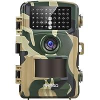 AKASO Caméra de Chasse Caméra de Surveillance Étanche, Appareil Photo de Surveillance 14MP 1080P IP66 Grand Angle 120 ° De Vision Nocturne pour la Surveillance de la Chasse et la Sécurité à la Maison