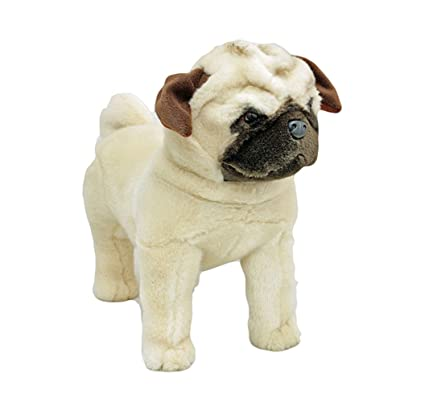 Amazoncom Bocchetta Plush Toys Pug Dog Standing Soft Plush Toy