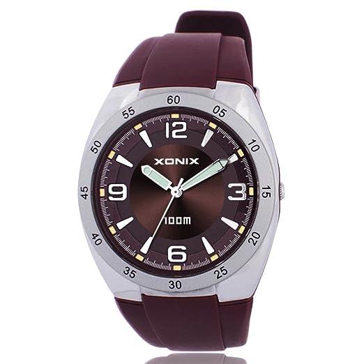 relojes personalizados/Examen puntero de reloj resistente al agua-F: Amazon.es: Relojes