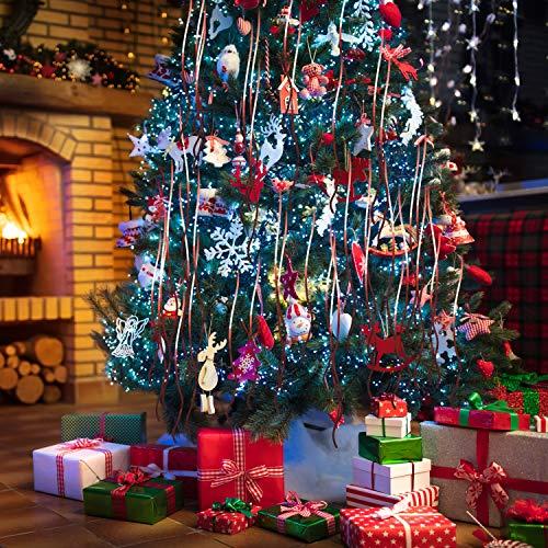 1.2m Rose Tinsel Lametta Garland Christmas Tree