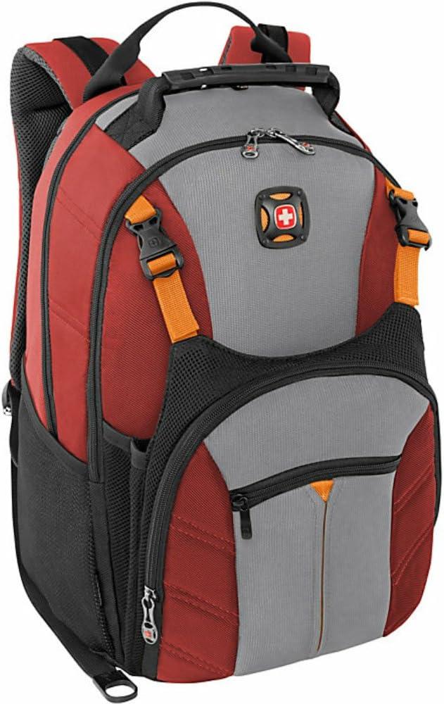 """Swiss Gear Sherpa 16"""" Laptop Backpack Travel School Bag - Red"""