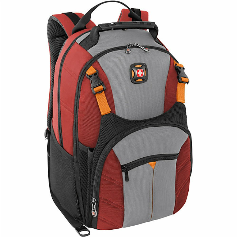 Swiss Gear Sherpa 16'' Laptop Backpack Travel School Bag - Red by Swiss Gear