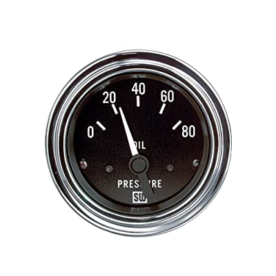 "Stewart Warner 82304 Deluxe 2-1/16"" Oil Pressure Electric Gauge: Automotive"