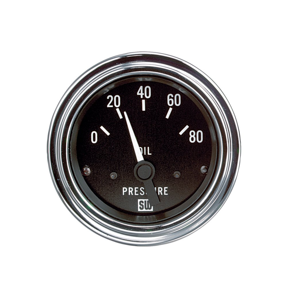 Stewart Warner 82304 Deluxe 2-1/16' Oil Pressure Electric Gauge