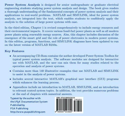 Power system Analysis: Hadi Saadat: 9780984543809: Amazon com: Books