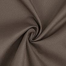 Canvas Effect Water Repellent, Neotrims Indoor/Outdoor for Seating, Seat Pad, Beanbag, Boats, Caravan Covering Fabric. Multipurpose for Decoration, Functional or Upholstery - 1 Mt - Brown