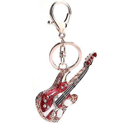 ISAAC ENGLAND Creativo Lindo Mini Forma de Guitarra Colgante ...