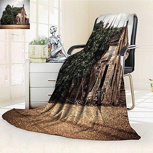 AmaPark Digital Printing Blanket Rustic with Overgrown Oregon
